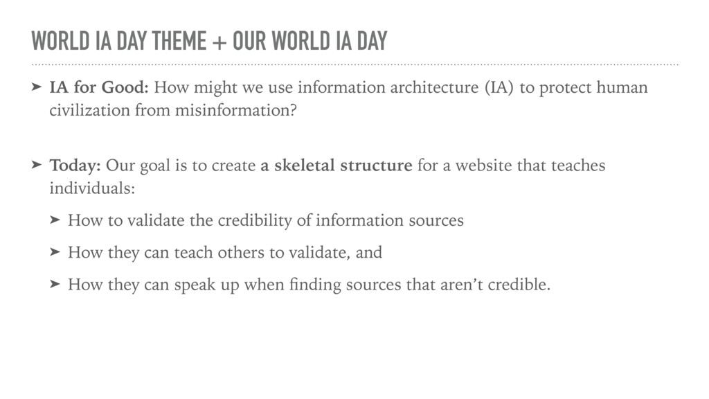 WORLD IA DAY THEME + OUR WORLD IA DAY ➤ IA for ...