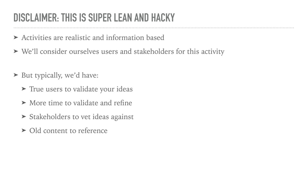 DISCLAIMER: THIS IS SUPER LEAN AND HACKY ➤ Acti...