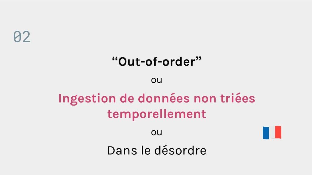 """""""Out-of-order"""" ou Ingestion de données non trié..."""