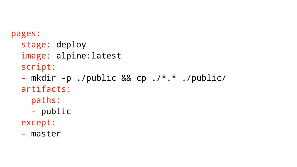 pages: stage: deploy image: alpine:latest scrip...