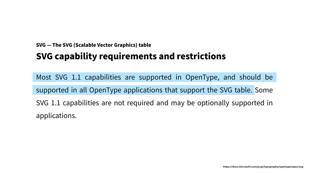 SVG capability requirements and restrictions Mo...