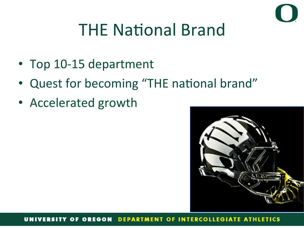 THE Na4onal Brand  • Top 10-‐15...
