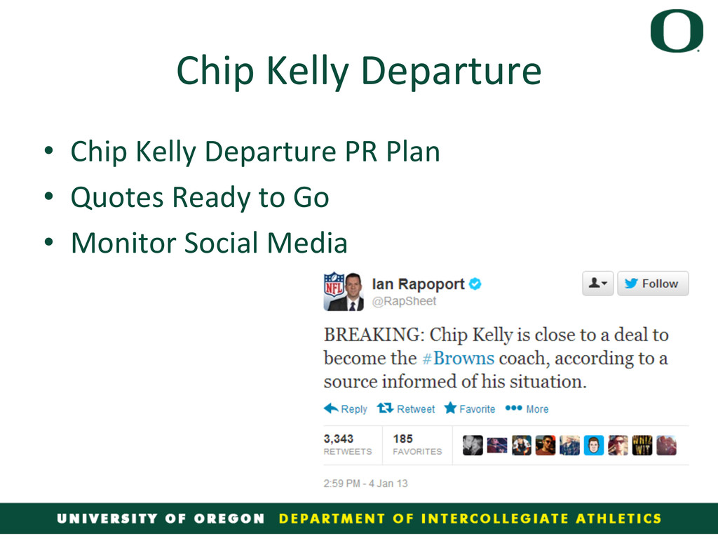 Chip Kelly Departure  • Chip Kelly...