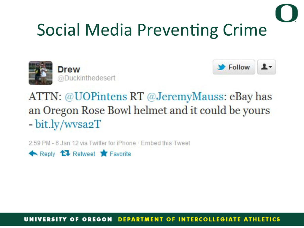 Social Media Preven4ng Crime