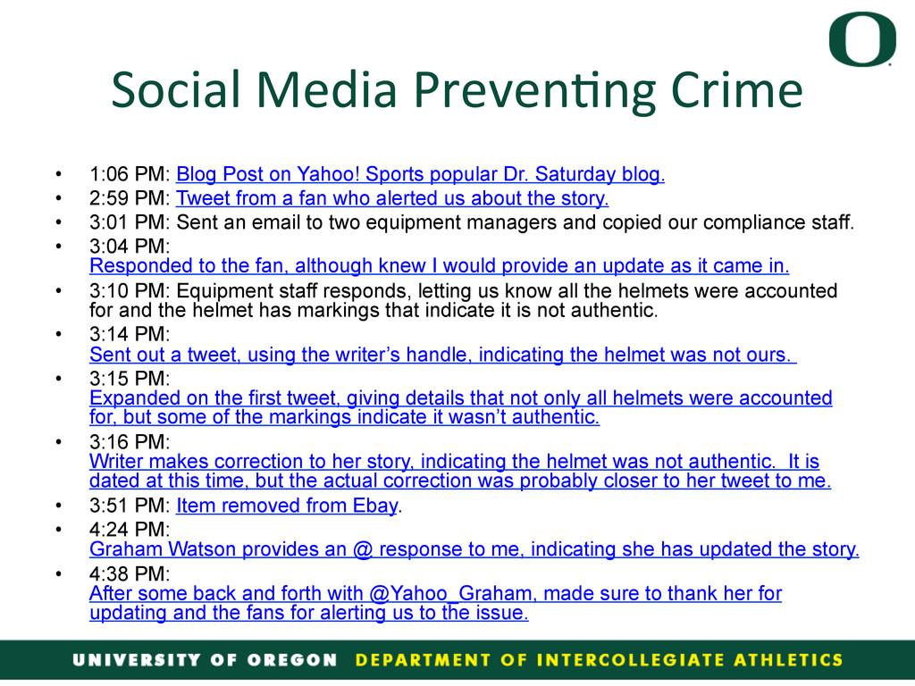 Social Media Preven4ng Crime  • 1:...