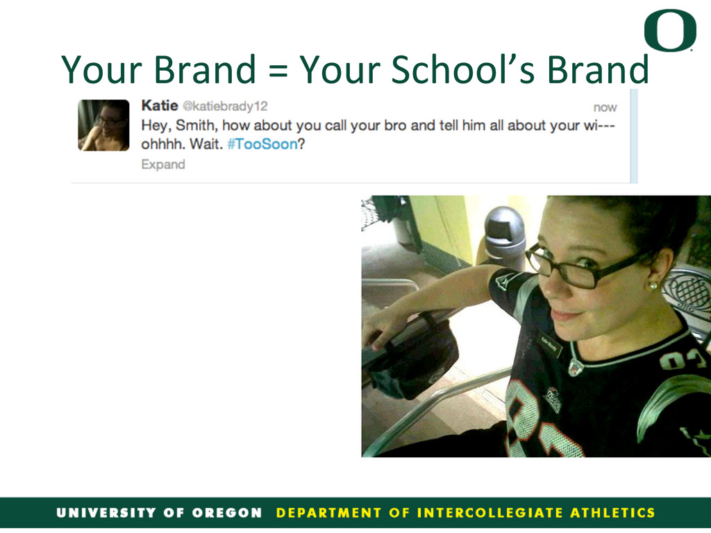 Your Brand = Your School's Brand...