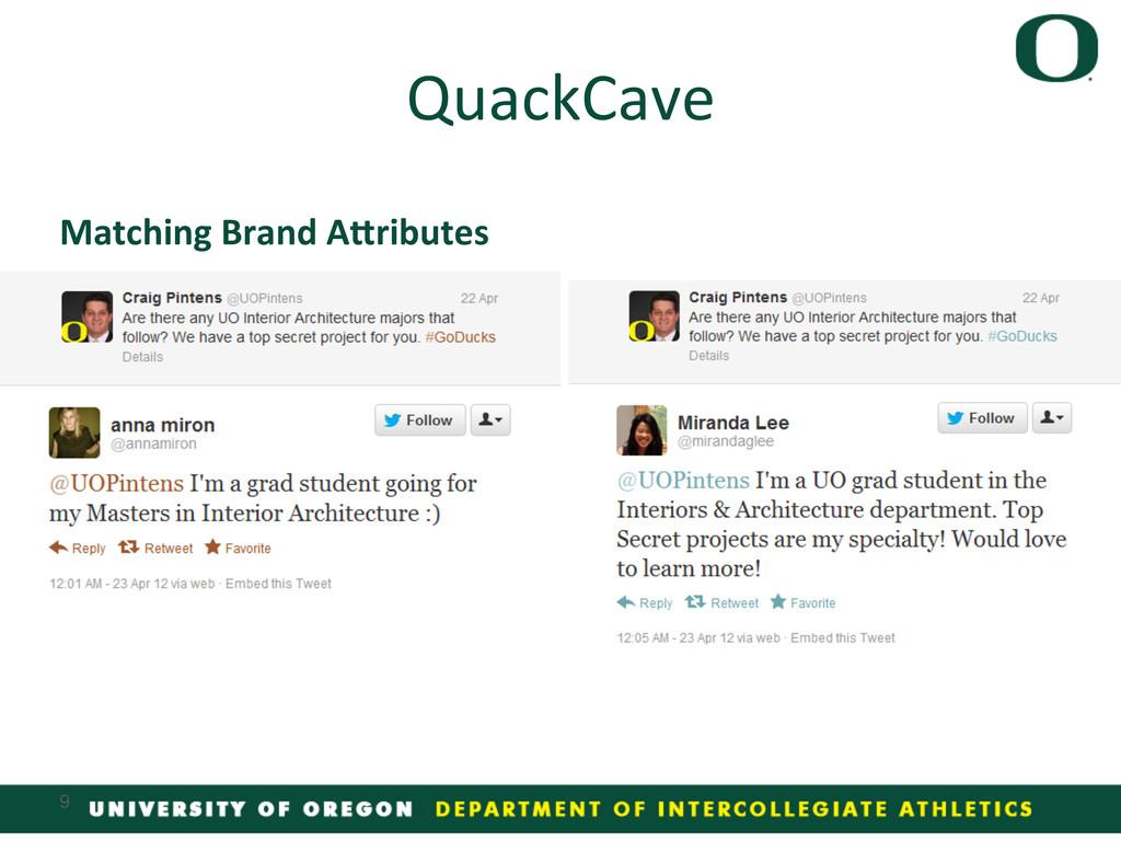 Matching Brand A/ributes  QuackCave ...