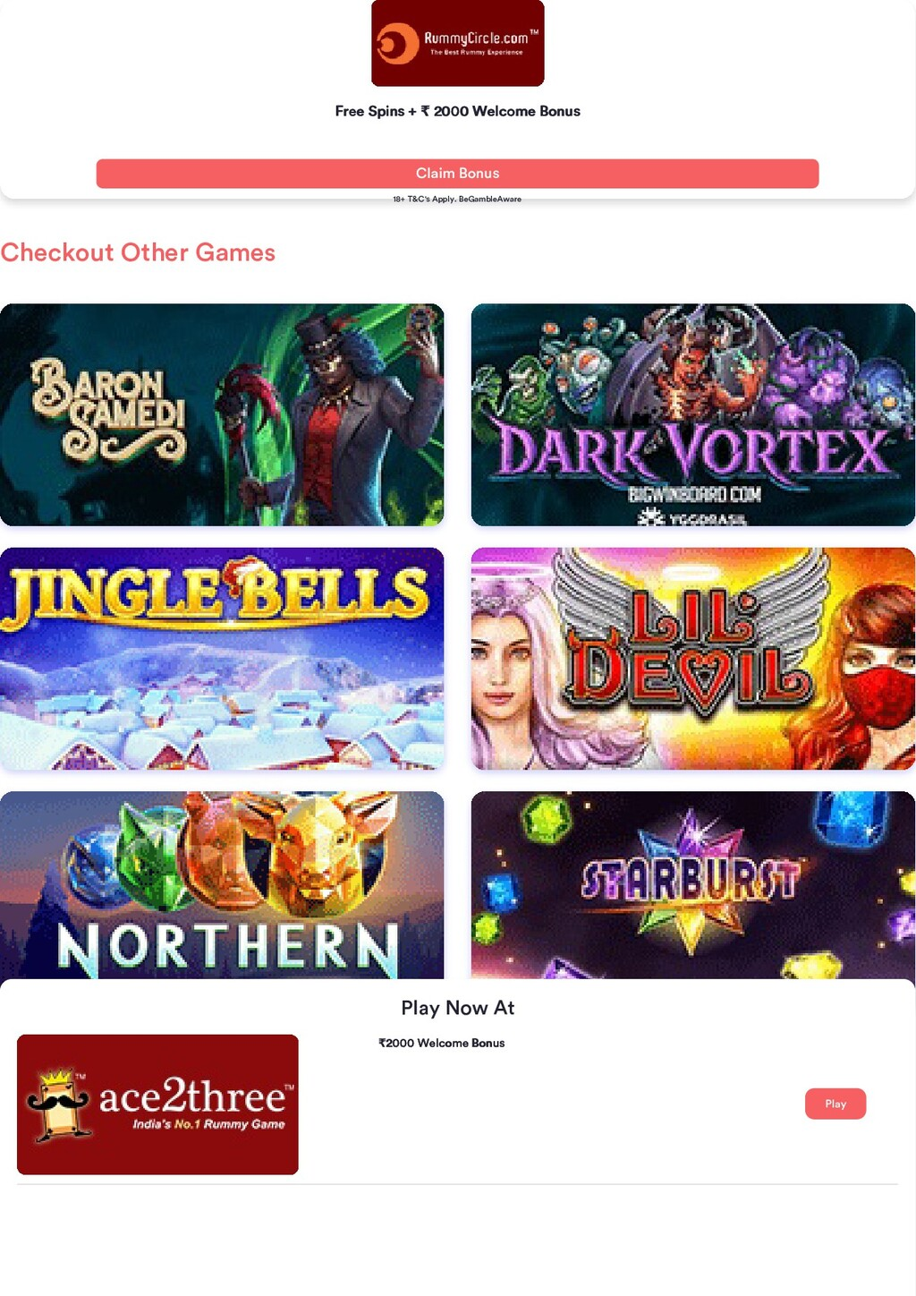Checkout Other Games Free Spins + Free Spins + ...