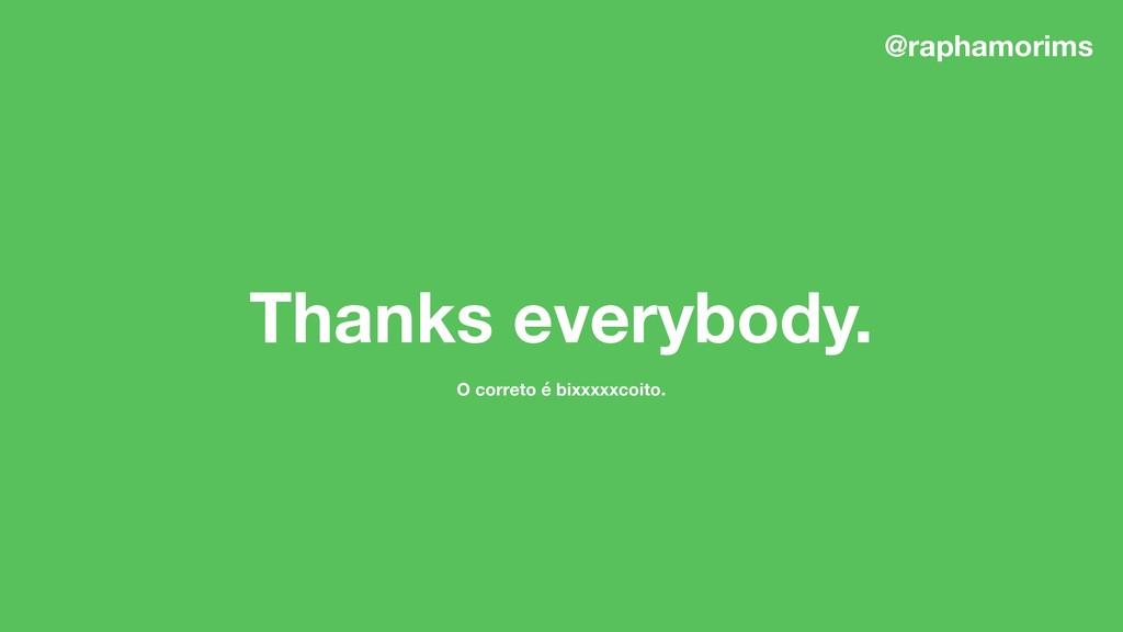 O correto é bixxxxxcoito. Thanks everybody. @ra...
