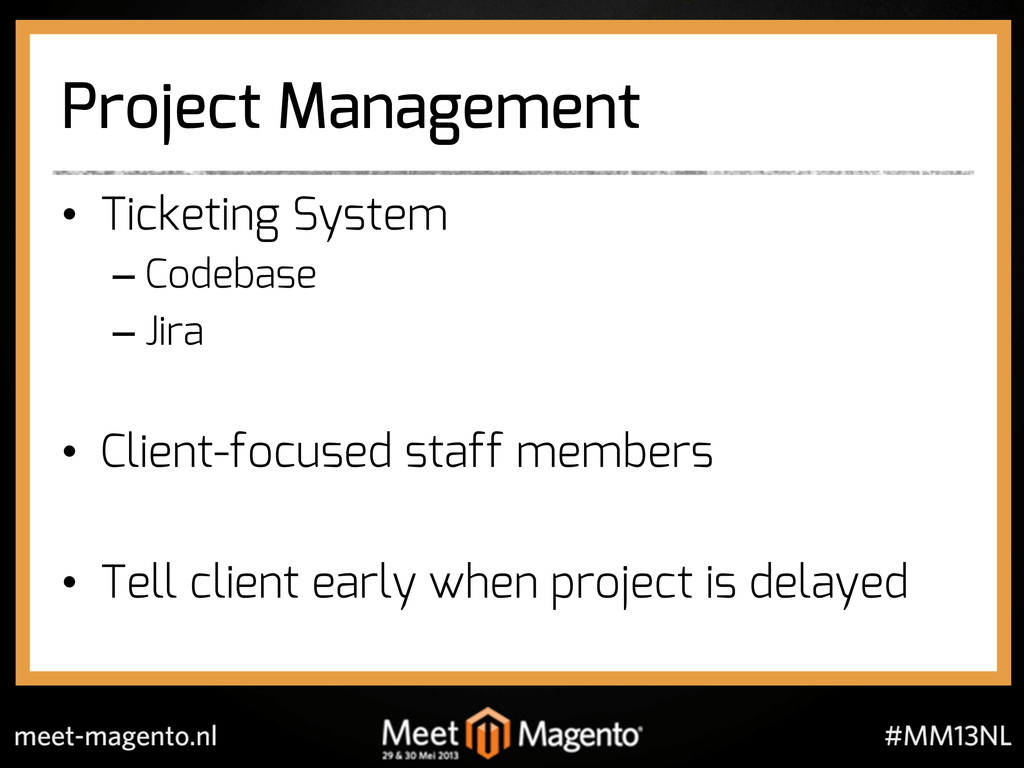 Project Management •  Ticketing System – Codeba...