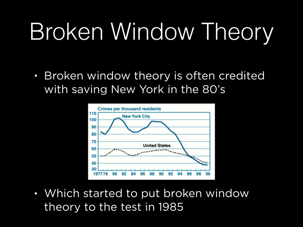 Broken Window Theory • Broken window theory is ...
