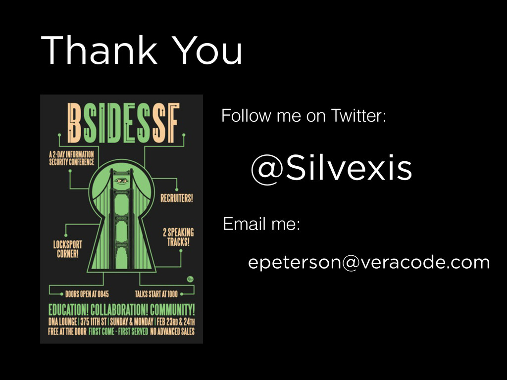 Thank You @Silvexis Follow me on Twitter: Email...