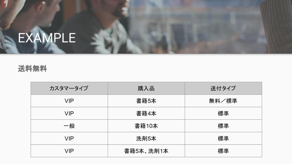 EXAMPLE 送料無料 カスタマータイプ 購入品 送付タイプ VIP 書籍5本 無料/標準 ...