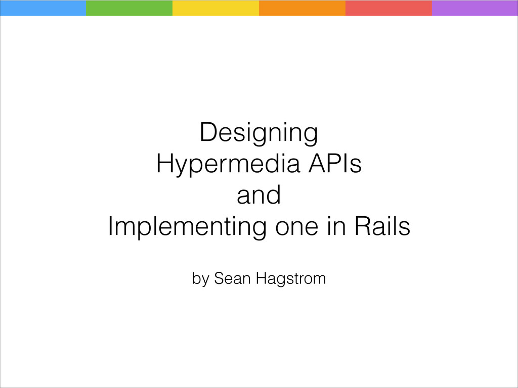 Designing Hypermedia APIs and Implementing one ...