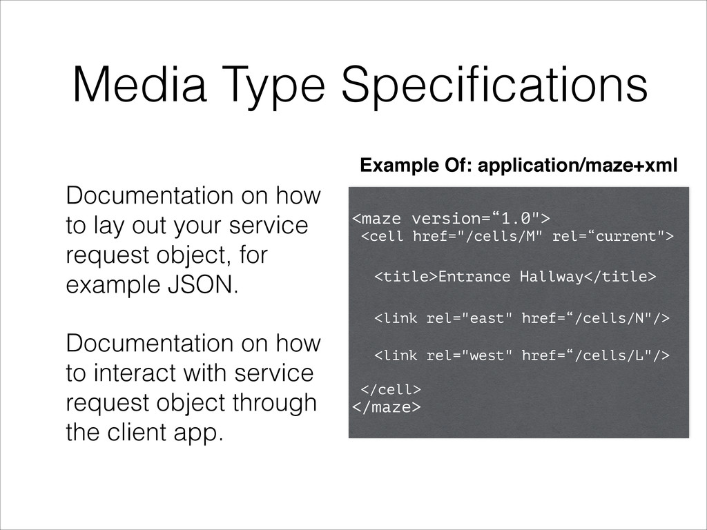 Media Type Specifications Documentation on how t...