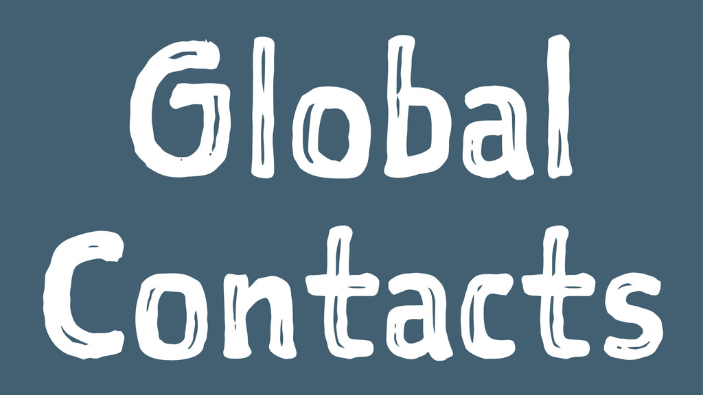 Global Contacts