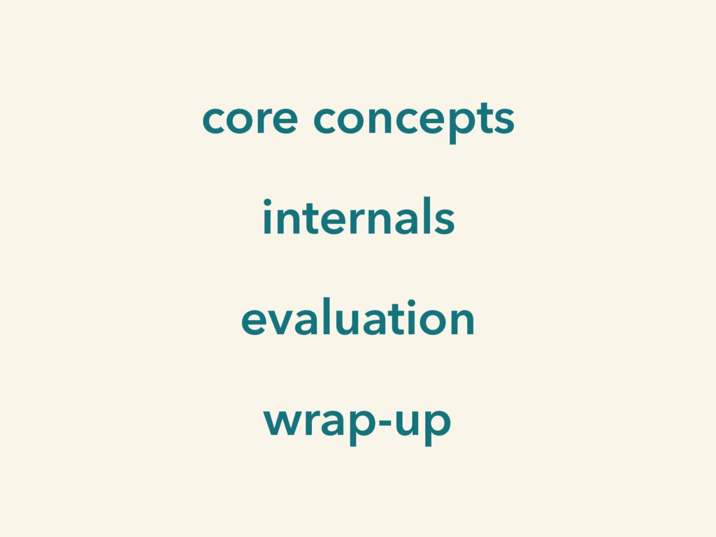 core concepts internals evaluation wrap-up