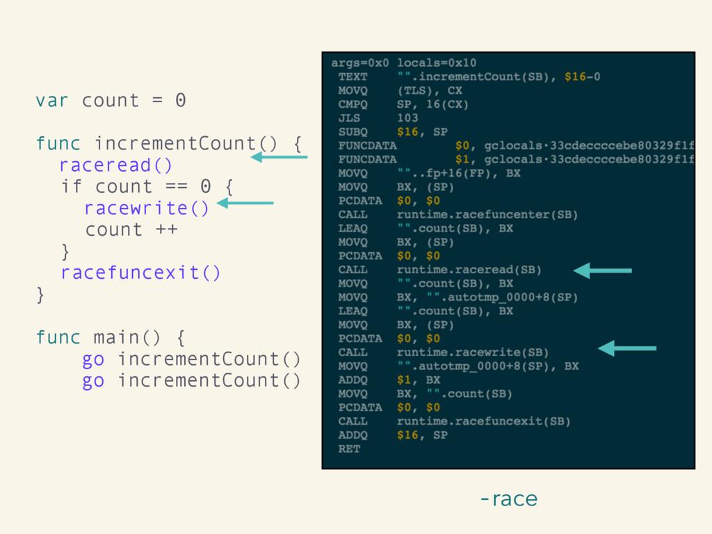 -race var count = 0 func incrementCount() { rac...