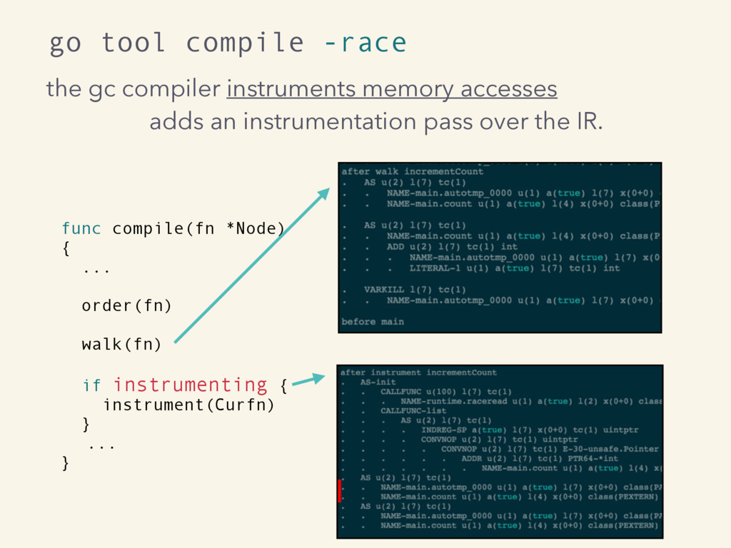 the gc compiler instruments memory accesses add...