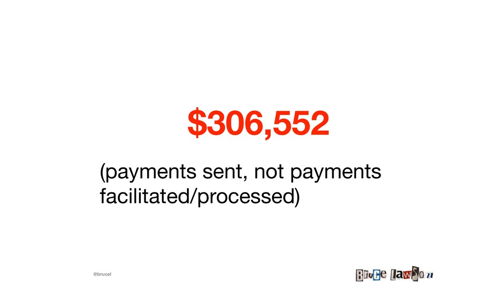 @brucel $306,552 (payments sent, not payments f...