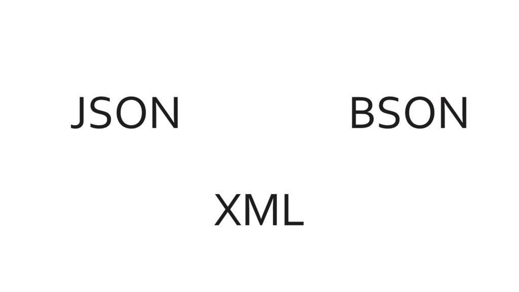 JSON XML BSON