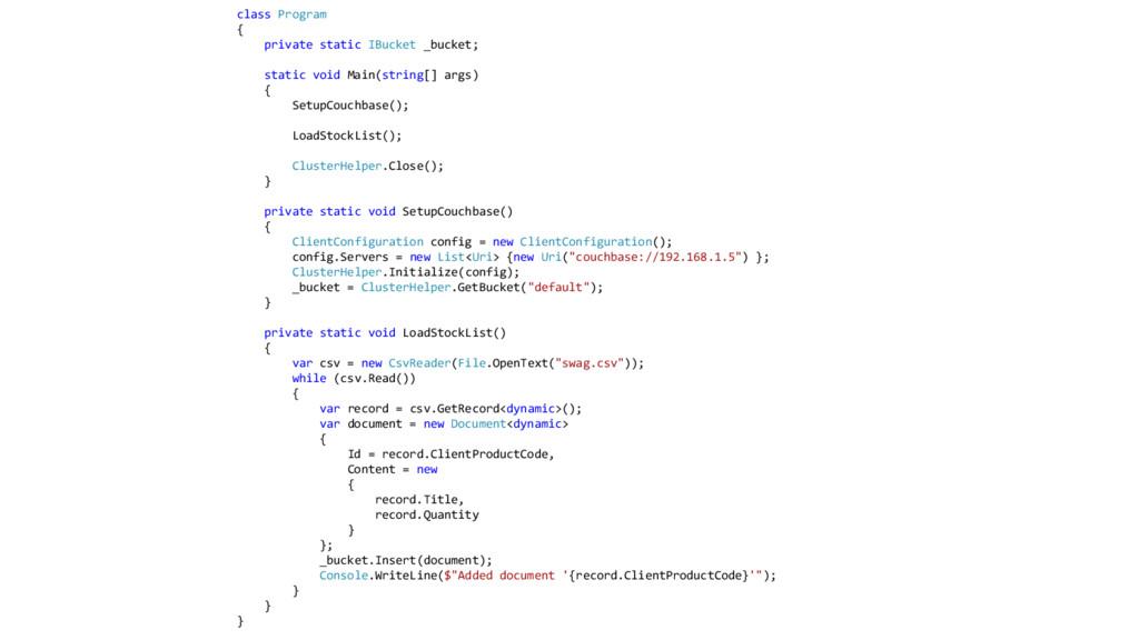 class Program { private static IBucket _bucket;...