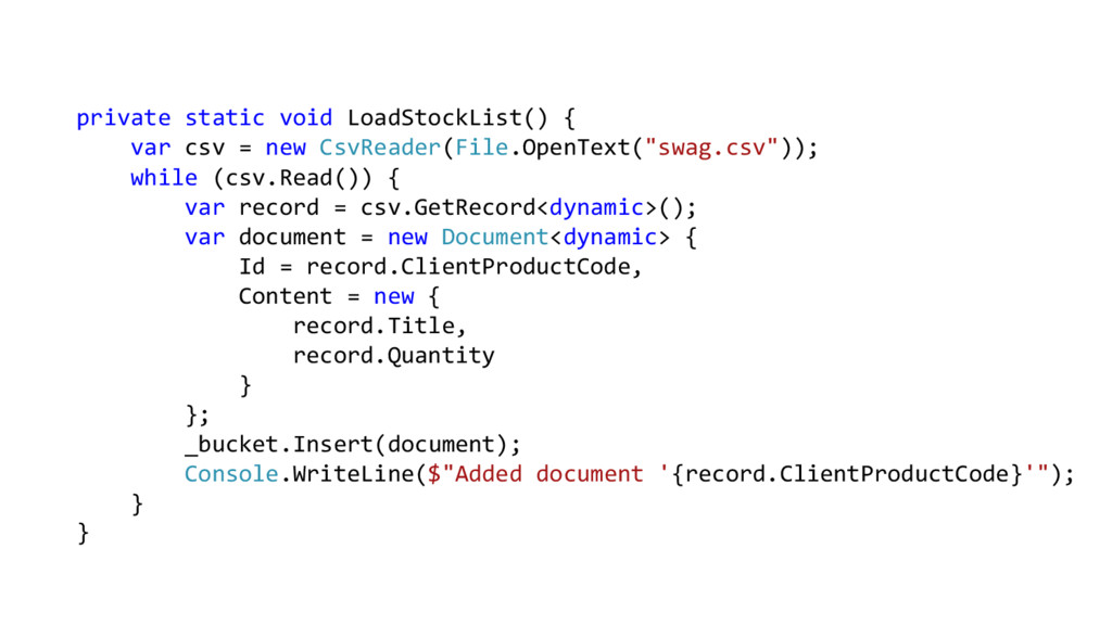 private static void LoadStockList() { var csv =...