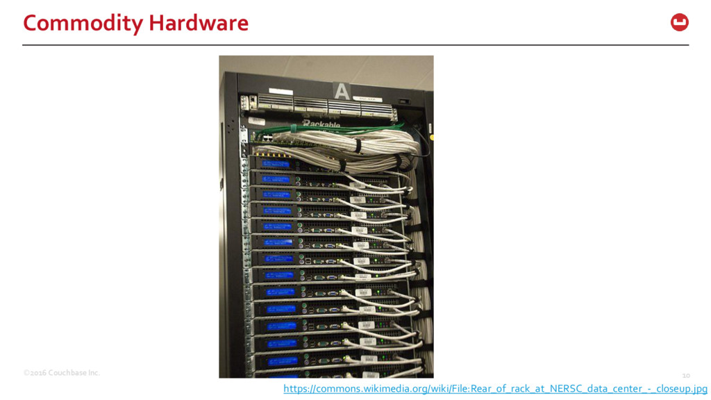 ©2016 Couchbase Inc. 10 Commodity Hardware http...