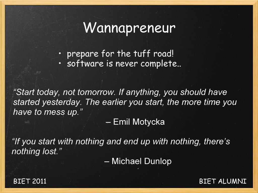 Wannapreneur • prepare for the tuff road! • sof...