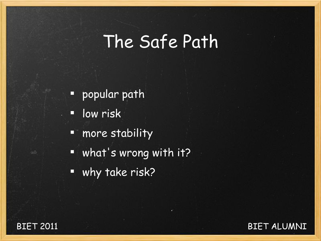The Safe Path  popular path  low risk  more ...