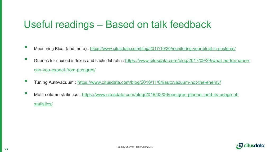 Samay Sharma | RailsConf 2019 Useful readings –...