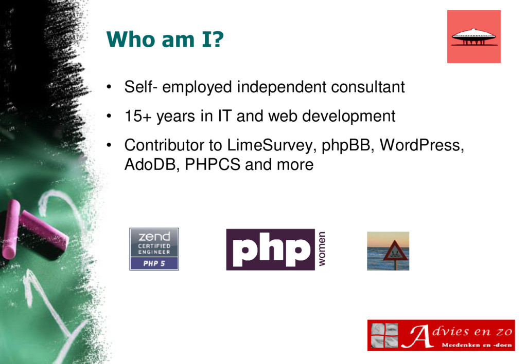 Who am I? • Self- employed independent consulta...
