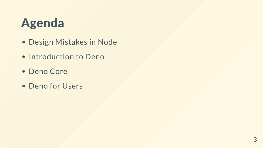 Agenda Design Mistakes in Node Introduction to ...