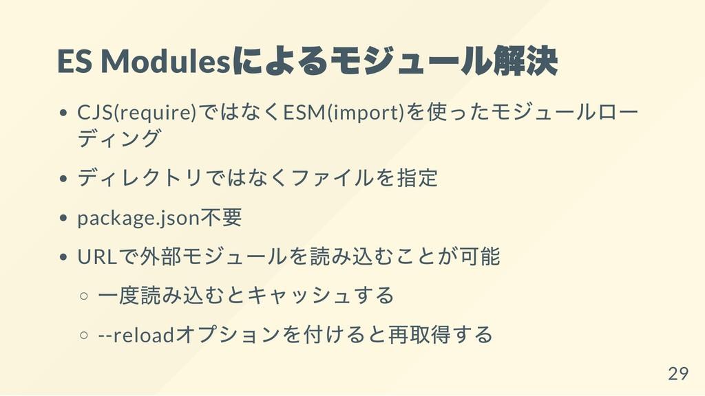 ES Modules によるモジュール解決 CJS(require) ではなくESM(impo...