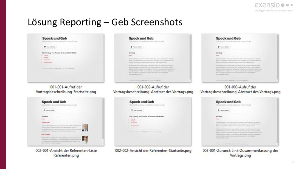 38 Lösung Reporting – Geb Screenshots
