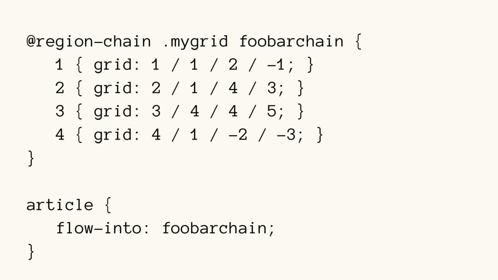 @region-chain .mygrid foobarchain { 1 { grid: 1...