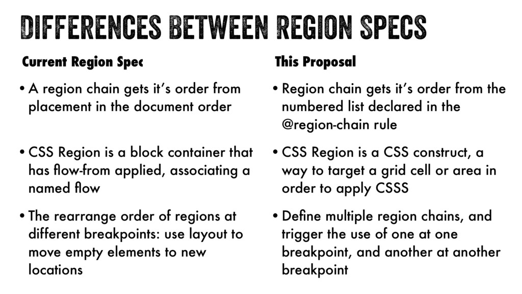 Differences Between Region Specs •A region chai...