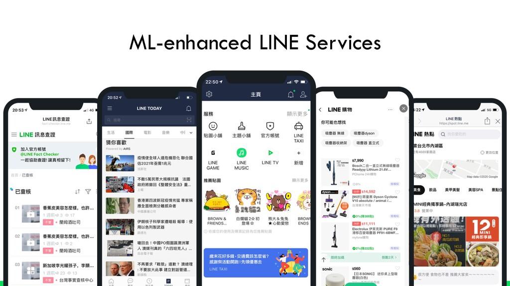 ML-enhanced LINE Services
