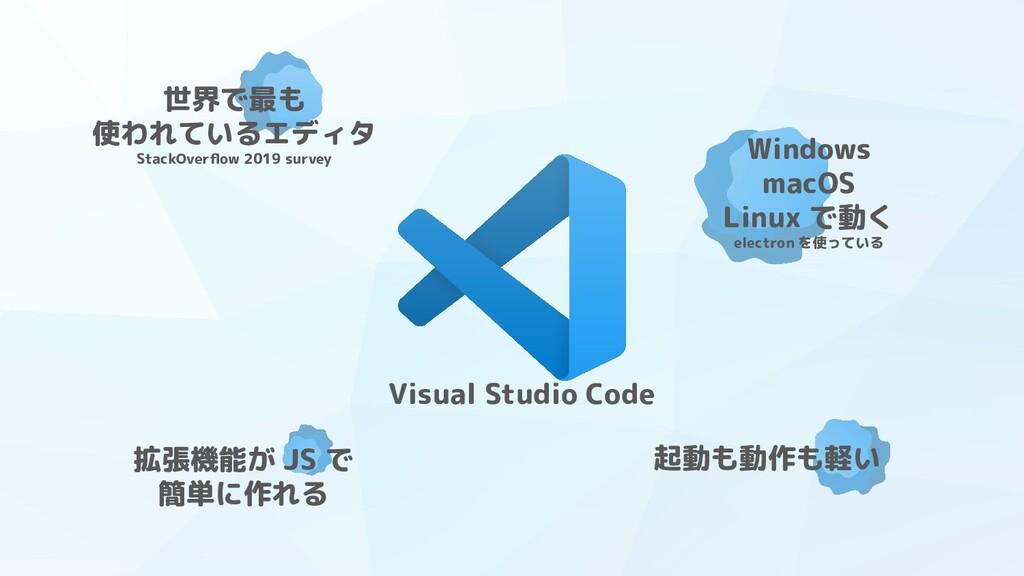 Visual Studio Code 世界で最も 使われているエディタ StackOverflo...
