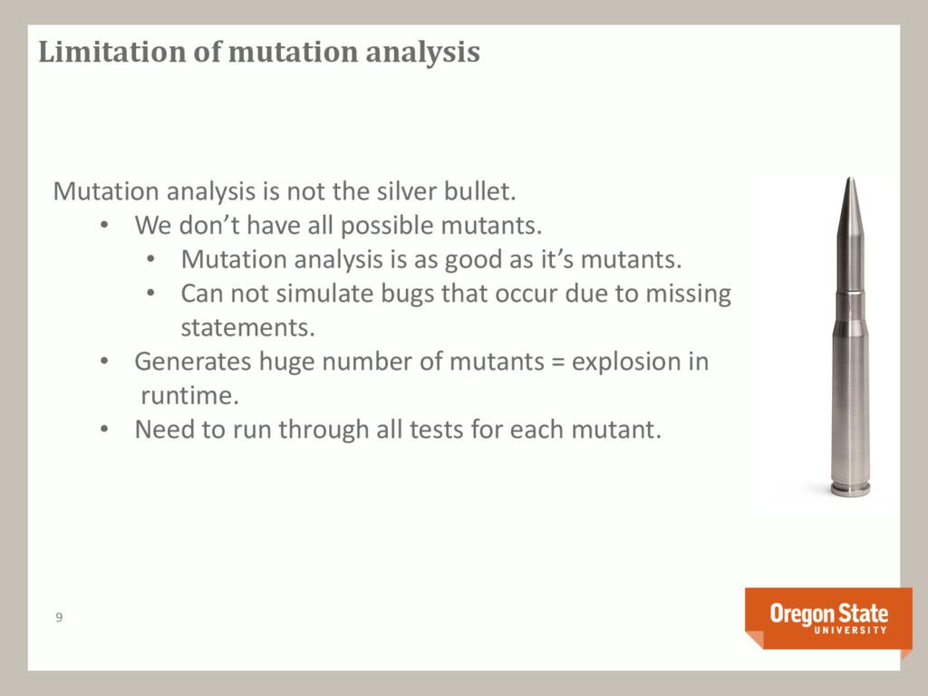 Limitation of mutation analysis 9 Mutation anal...
