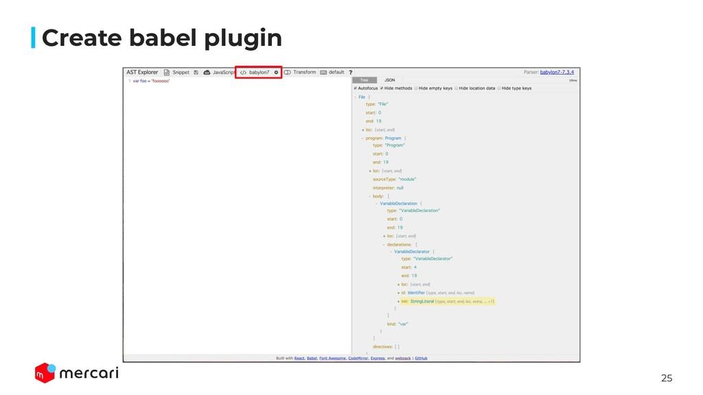 25 Create babel plugin