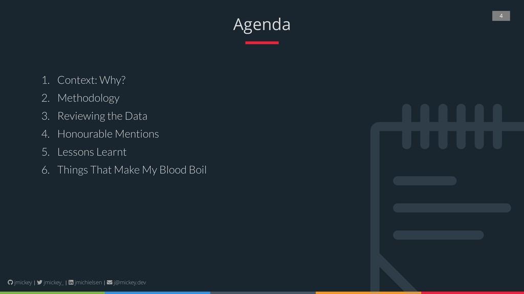 4 Agenda 1. Context: Why? 2. Methodology 3. Rev...