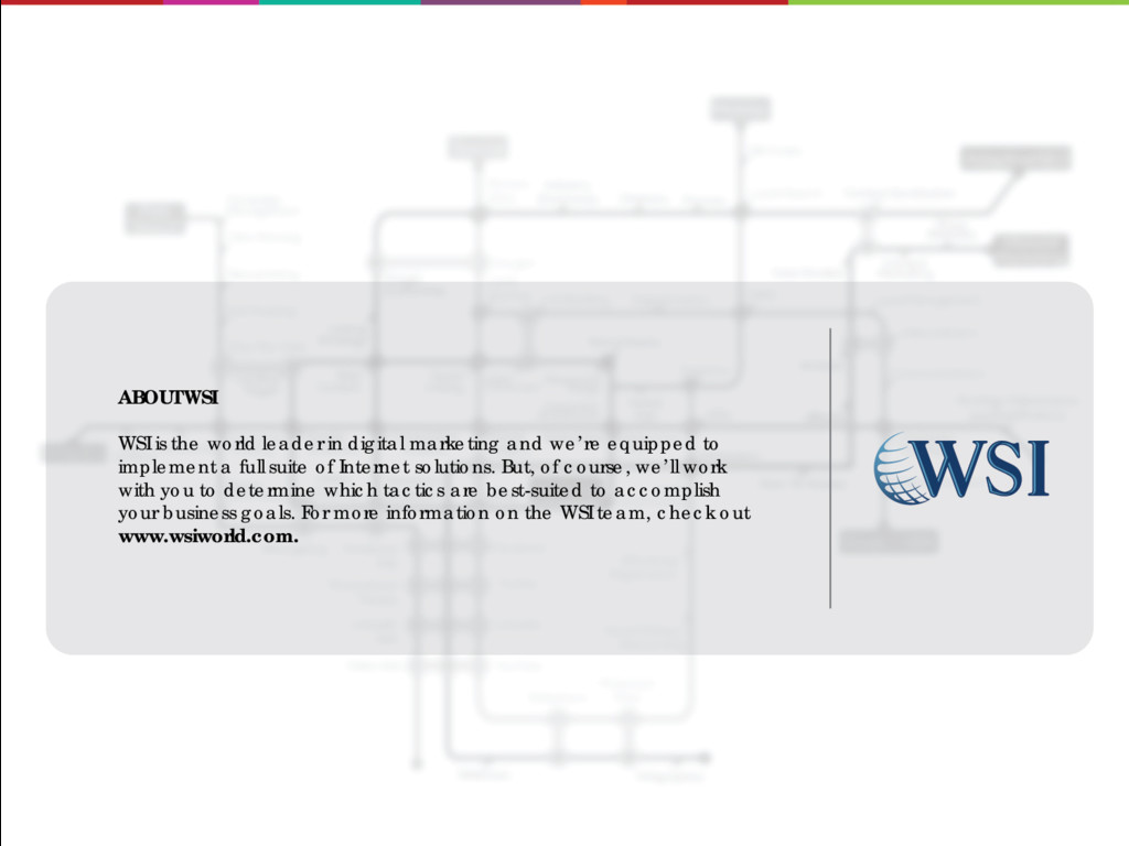 ABOUT WSI WSI is the world leader in digital ma...