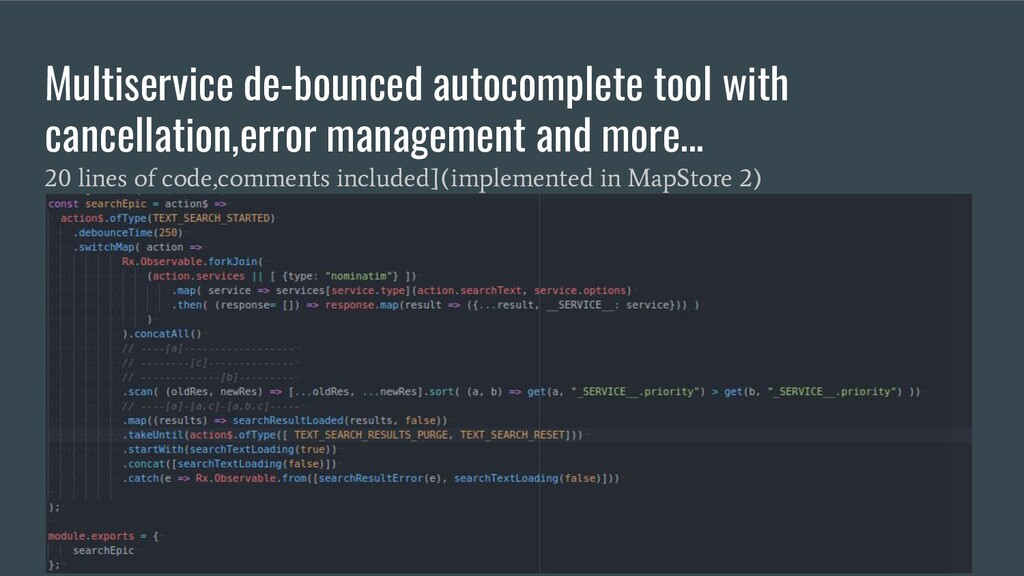 Multiservice de-bounced autocomplete tool with ...