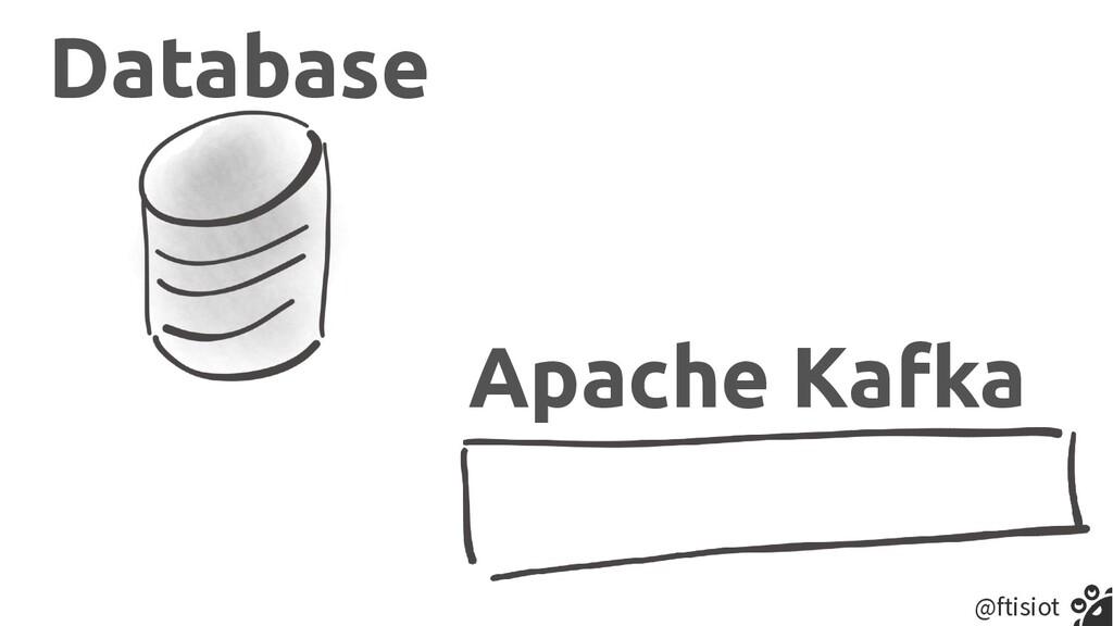 @ftisiot Database Apache Kafka