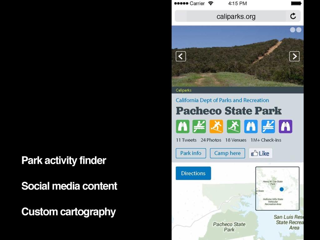 Park activity finder Social media content Custo...