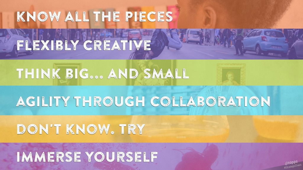 know all the pieces flexibly creative think big...
