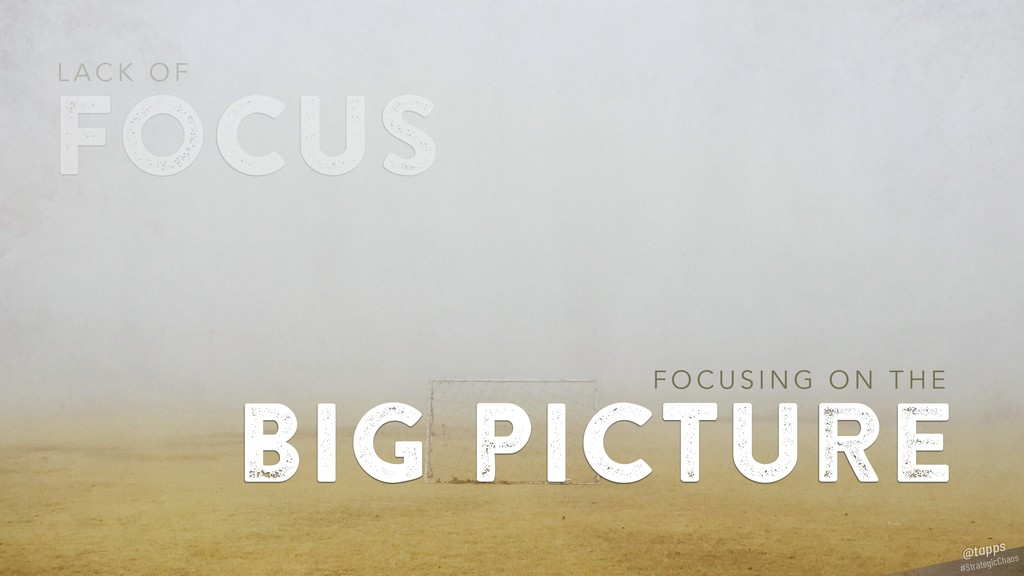 focus L A C K O F big picture F O C U S I N G O...