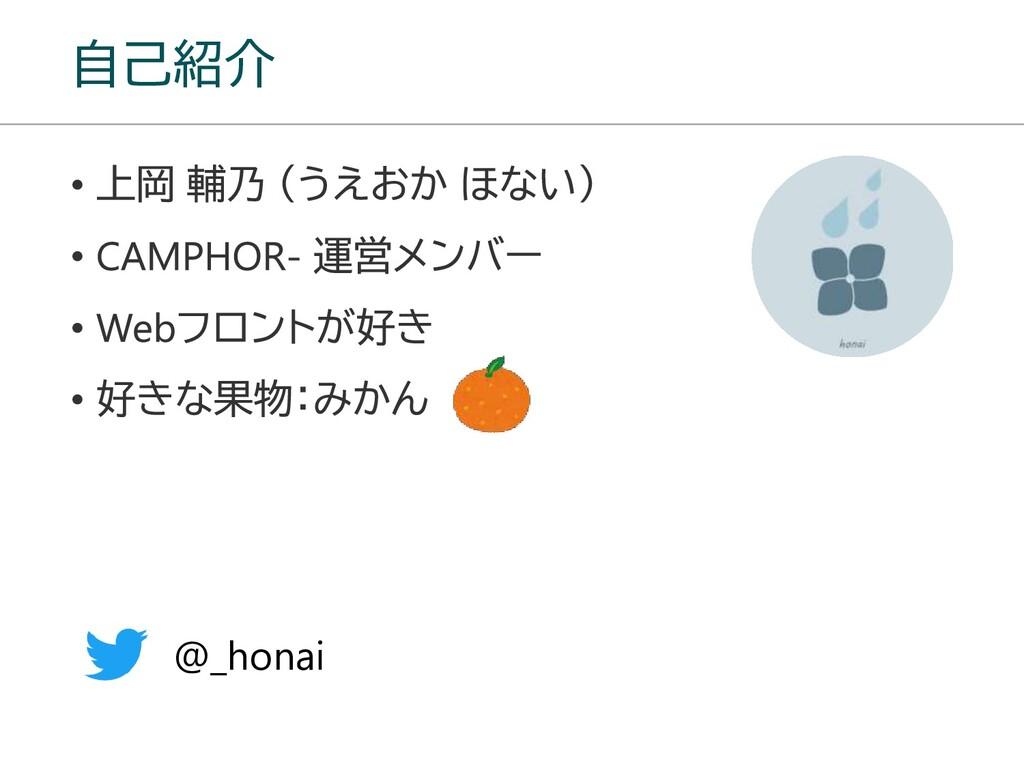自己紹介 @_honai