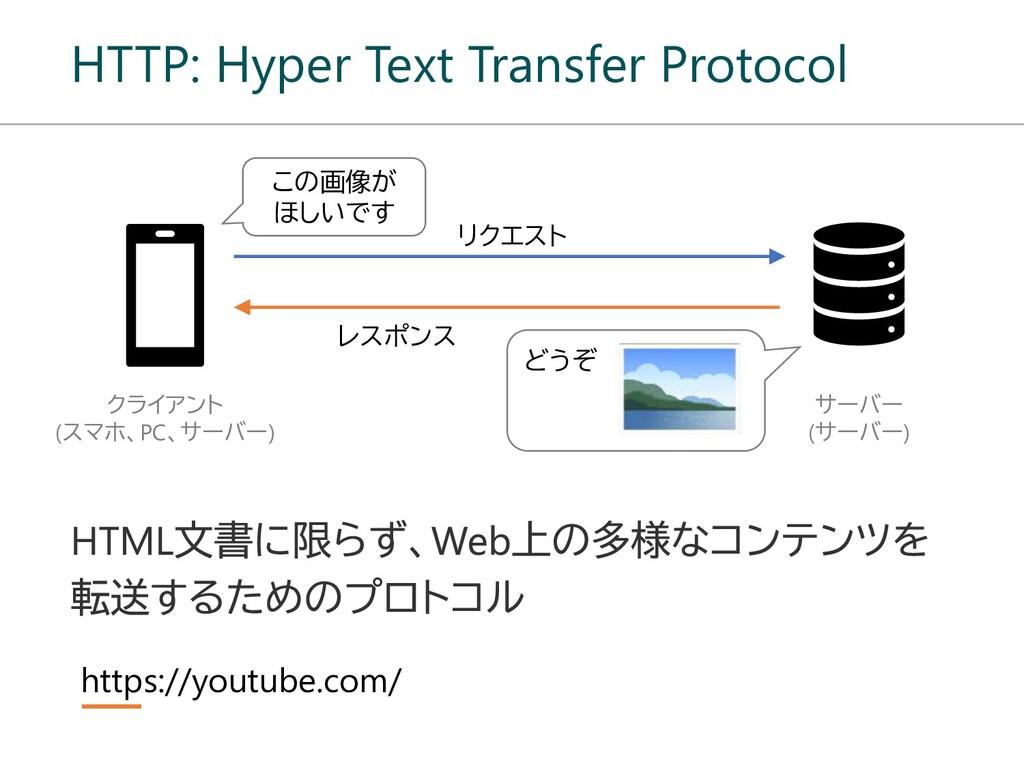 HTTP: Hyper Text Transfer Protocol リクエスト レスポンス ...